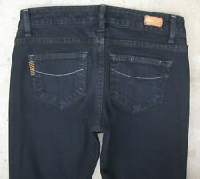 Paige Premium Jeans Petite Blue Heights Slim Straight Leg BLACK  Sz 26