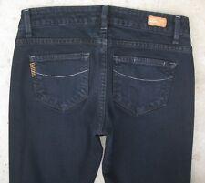 Paige Premium Jeans Petite Azul Alturas Pierna Recta Ajustada Negro Talla 26