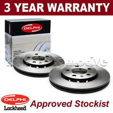 2x Rear Delphi Lockheed Coated Brake Discs For Audi Seat Skoda VW BG3834C