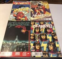 Lot of 4 Ms.Marvel Comic Books Volumes 3, 4, 5 & 5 Variant Cover