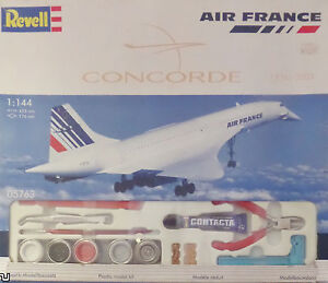 """NEW-AIR FRANCE""""CONCORDE""""1976-2003 REVELL 5763:1/144 INCL PAINTS/TOOLS-FREEE POST"""
