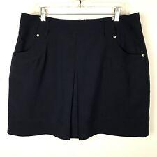 Swing Bette & Court Women's Golf Tennis Skort Size 14 Navy Blue