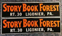 Pair of Story Book Forest Bumper Stickers - Ligonier, PA