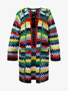 Gorgeous Women's MIRA MIKATI Multi Colour Knitted Blanket Cardigan Size 38 £580