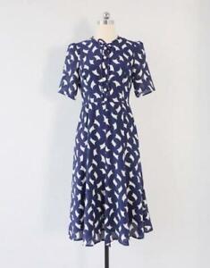 New L.K Bennett Monata Sail Print Dress Size UK 10