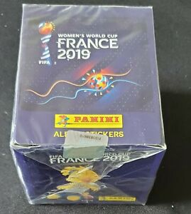 Panini 2019 France Women's World Cup Box 50 Packets NEW Factory Sealed
