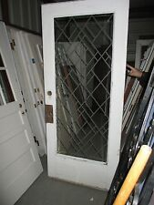 Exterior Bevelled Glass Door With Designs On Glass We Ship!