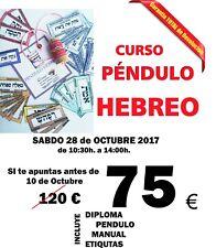 Kit completo PENDULO HEBREO, + curso online, etiquetas, y tutoria