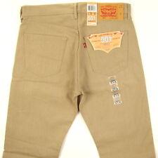 Levis Men's 501 Original SHRINK TO FIT Jeans KHAKI 33 X 30 Button Fly Levi's STF