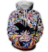Dragonball Z Naruto Anime Manga Kapuzen Sweatshirt Hoodie pullover Hooded Pulli