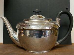 Antique Georgian British Solid Silver Bright Cut Tea Pot Abstinando King 1805
