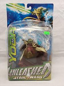 "2003 Star Wars Unleashed Yoda 6"" Deluxe Action Figure Jedi Hasbro Rare HTF"