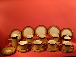 DENBY FINE STONEWARE, COUNTRY CUISINE PATTERN?, 22 PIECE TEA SET