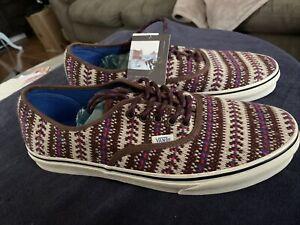 Vans Retro Sweater Shoes Classic Era Low Top Lace-Up Men's Size 12 NWT NR
