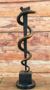 One Bronze Sculpture One Asclepius Rod 587BE