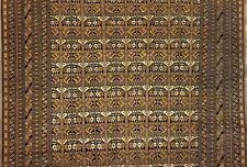 Terrific Turkoman - 1950s Afghan Tribal Rug - Silk and Wool Carpet - 6.10 x 9.10