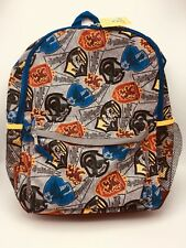 Harry Potter Backpack Gray with Hogwarts House Crests Reflective New