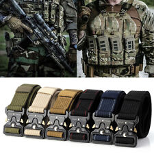 Men Outdoor Tactical Military Belt Nylon Multi-functional Training Belts New