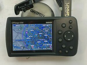 GARMIN GPSMAP 496, with XM ANTENNA, PANEL DOCK, ACCESSORIES - NO RESERVE!