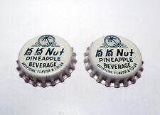 Set of (2) Vintage Unused 1960's KO KO NUT PINEAPPLE Cork Lined Soda Bottle Caps