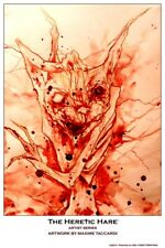 THE HERETIC HARE : ARTIST SERIES 11 x 17 Print by MAXIME TACCARDI FIRST PRINTING
