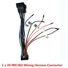 1x 20PIN ISO Wiring Harness Car Stereo DVD Android Multimedia Player Power Cable