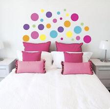 DOTS CIRCLES wall stickers 28 colorful decals room decor lotsadots pink blue +