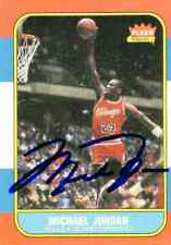 Rare Fleer 1986 Michael Jordan #57 BULLS Reprint Card Signed
