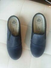 NWOB Womens Clark Cloudstepper Navy Sillian Free Slip-On Mule Shoe Size 7M