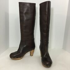 MARNI Tall Leather Boots pull on clog Studs Winter Boots sz 35 $980