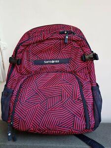Brand new Samsonite laptop backpack. Capri Red Stripes model.