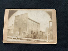 1880s Victorian Cabinet Photo Early Downtown Store Front Lincoln Illinois IL
