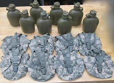 {8} US MILITARY 1 QUART CANTEENS ~NEW~ ; DIGITAL CAMO COVERS  ~Gently Used~