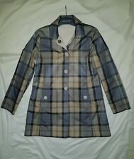 Barbour Women Jacket Reversible Derby Mac Waterproof Creme LWB0194CR51 size 10
