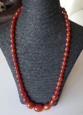 Collier en perles ambre bakélite forme ogive AMBER NECKLACE 81g