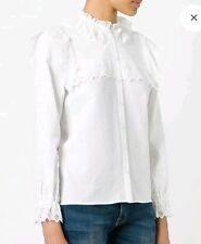 New Season!! Authentic Vilshenko Scalloped Bib shirt BNWT Size 6 RRP $800+