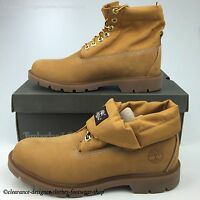 TIMBERLAND BASIC ROLL TOP WHEAT BOOTS MENS PREMIUM LEATHER NUBUCK SHOES RRP £140