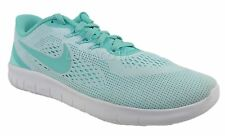 00e3238b50c5 Girls GS Nike Free RN White Turquoise Athletic Shoes Size 7Y  833993 100