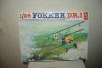 MAQUETTE HOBBY CRAFT  AVION FOKKER DR.1 NEUF MODEL KIT PLANE /PLANO 1/28