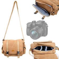 Tan Canvas Bag / Case for Panasonic Lumix G Camera Dmc-Gh4 / Lumix Dmc-Fz1000
