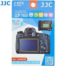 JJC 2PCS LCD Guard Screen Protector Film for Canon EOS 800D 760D 750D 700D 650D
