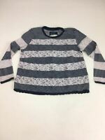 WOMENS SUPERDRY GREY/WHITE PATTERNED  TOP SIZE UK XS