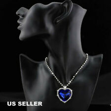 Blue Crystal Necklace Pendant Memory Gif New Titanic Heart of The Ocean Sapphire