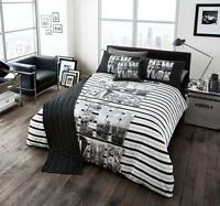 5 Piece Bed in a Bag Complete Bedding Duvet Quilt Cover Set Double King Sizes