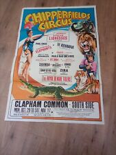 CHIPPERFIELDS CIRCUS poster CLAPHAM COMMON
