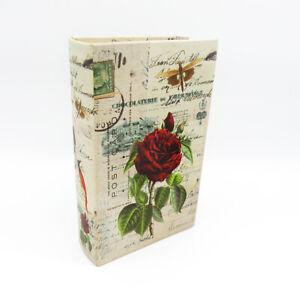 Buchattrappe Geschenkbox Buch Schatulle Safe Kiste Rosen Versteck Shabby H21cm