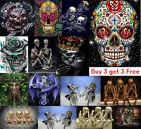 Skull DIY 5D Diamond Painting Embroidery Cross Stitch Kits Home Wall Decor New