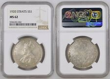 S$1 1920 STRAITS SETTLEMENTS George V Silver Dollar NGC MS 62