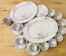 Johann Haviland Bavaria Germany China 17 Piece Lot Platters Cups Saucers Creamer