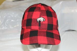 Plaid Baseball Cap With Buffalo Hat One Size Time True Red Black Icon